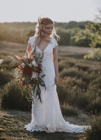Gratis DIY Tutorial Traumfänger selber machen Boho Brautkleid
