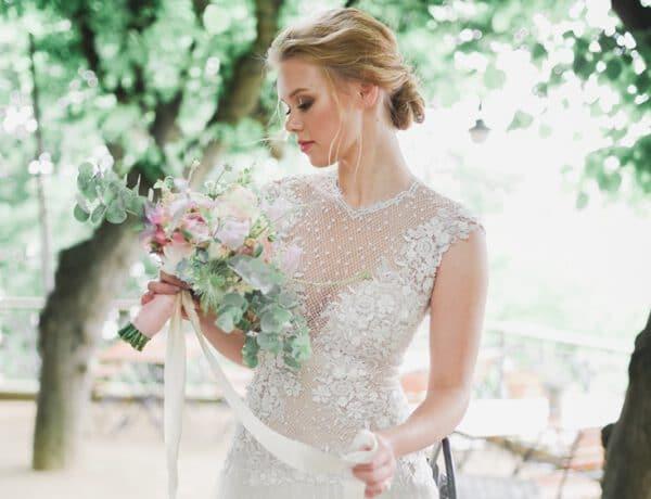 Seidenbänder Fine Art Wedding Braustrauß Braut