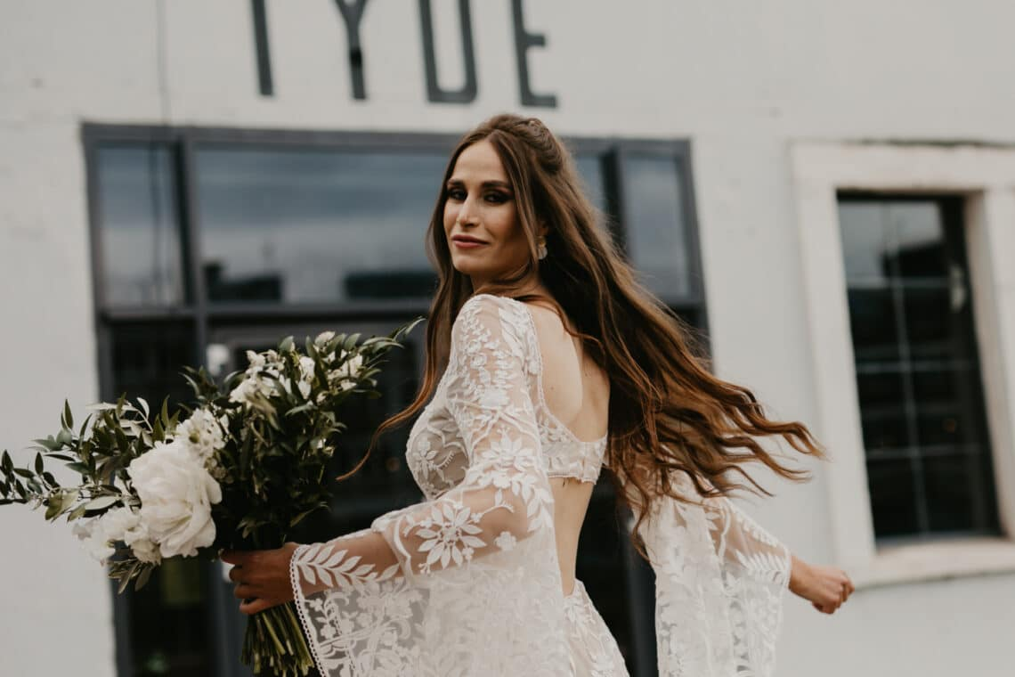 Moderne Boho Industry Chic Hochzeitsinspiration