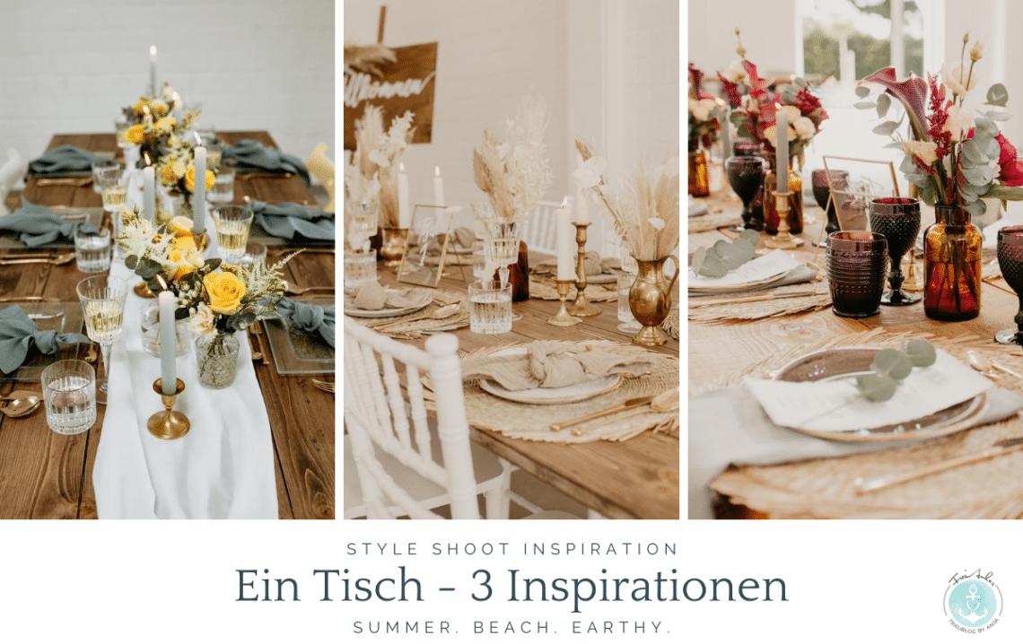 Hochzeitstisch drei Tischdeko Konzepte für Deine Hochzeit