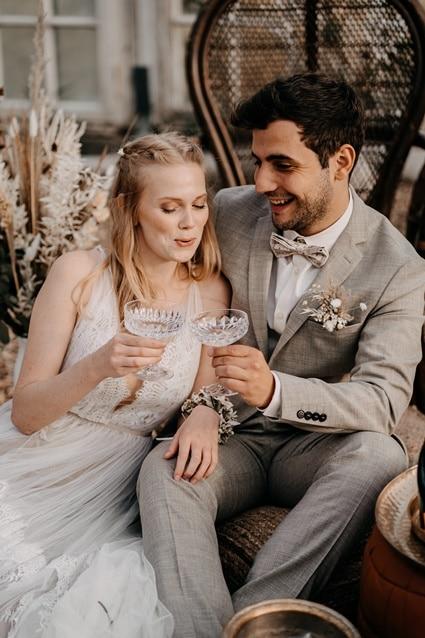 Shabby Chic Elopement Hochzeit auf Schloss Diersfordt