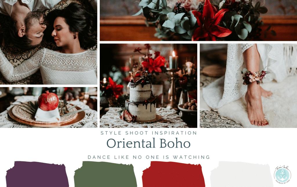 Boho Hochzeit mit orientalischen Elementen auf Burg Bergerhausen NRW bei Köln Moodboard