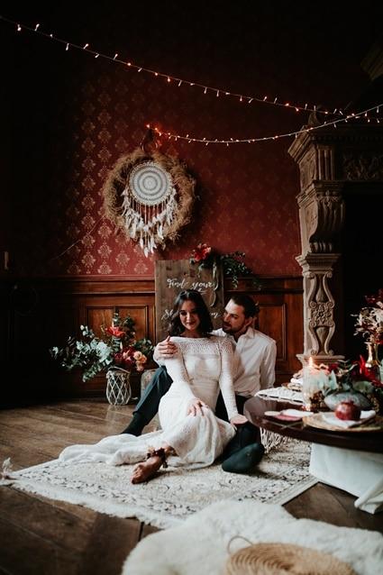 Boho Hochzeit mit orientalischen Elementen auf Burg Bergerhausen NRW bei Köln