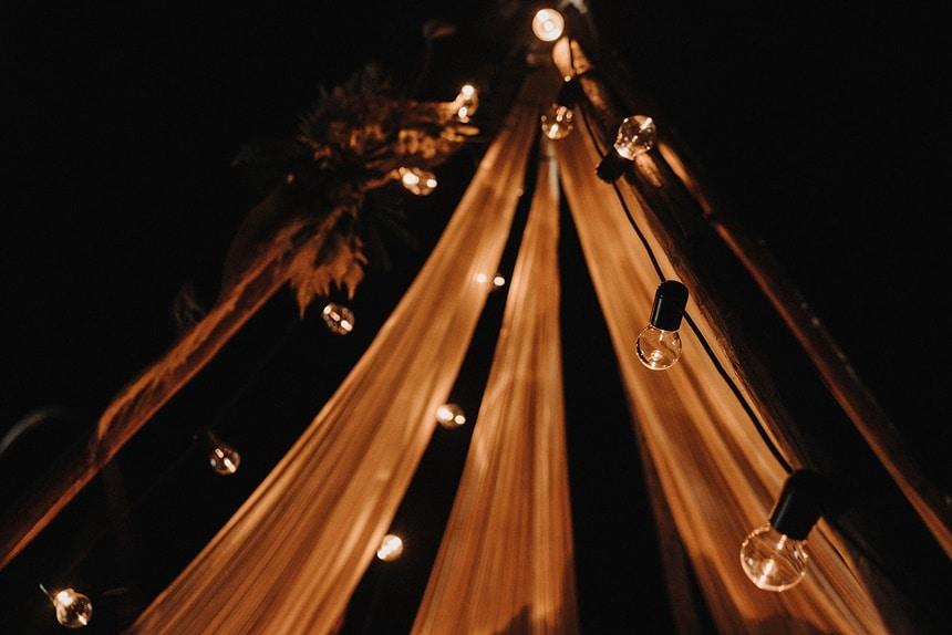 Sparkling Bali Night - beleuchtetes Tipi Zelt