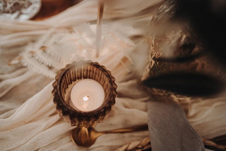 Sparkling Bali Night - Detail Tischdeko Teelicht