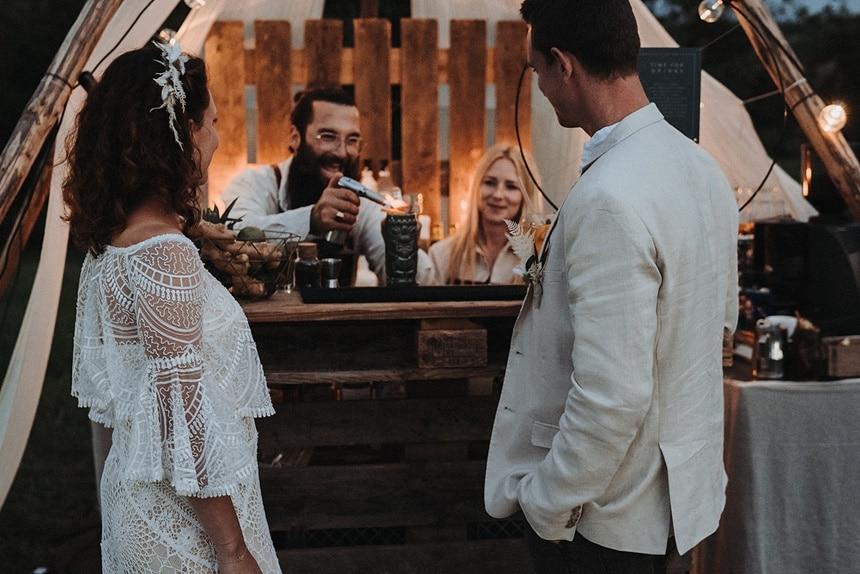 Sparkling Bali Night - Cocktail Bar auf der Hochzeit