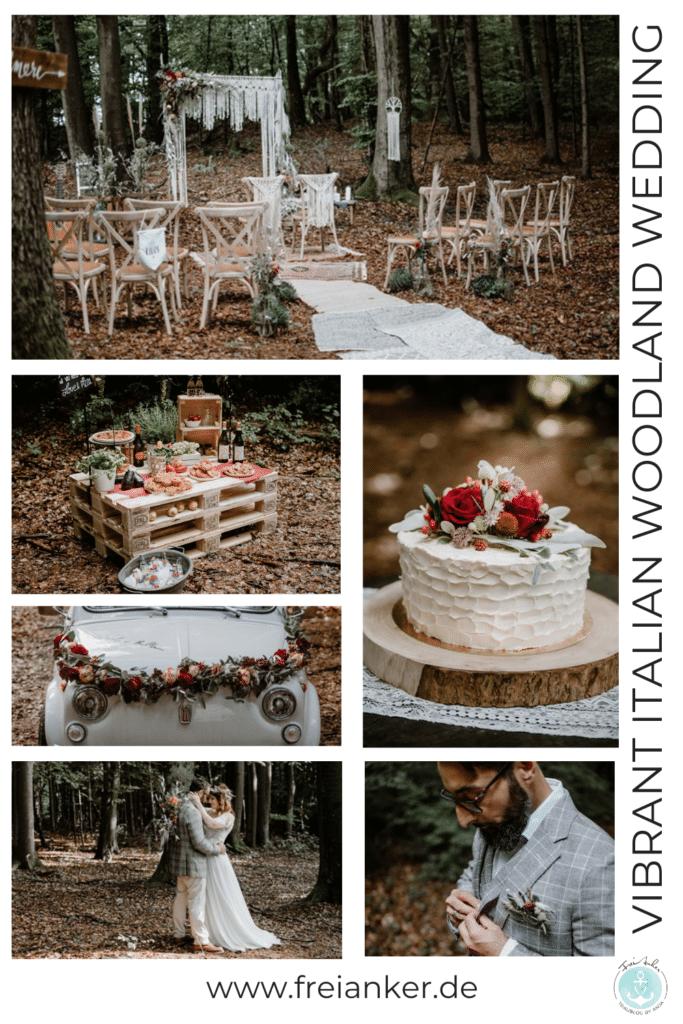 Italian Wedding Vibes Waldhochzeit