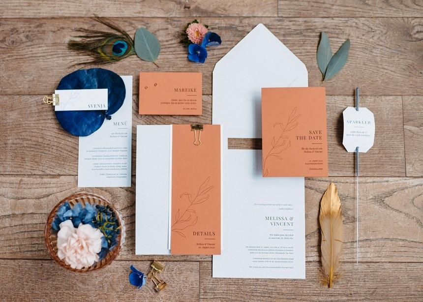 Autumn Colors Papeterie Einladungskarten Menükarten