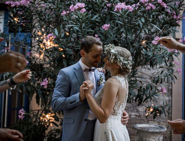 Toskana Hochzeit Handabdruck