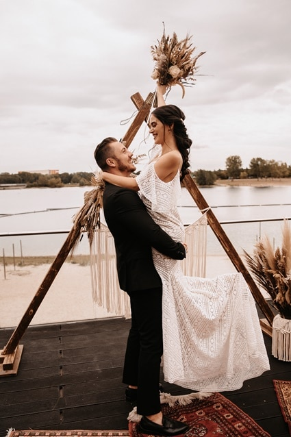 Boho Beach Wedding bei Koeln 66