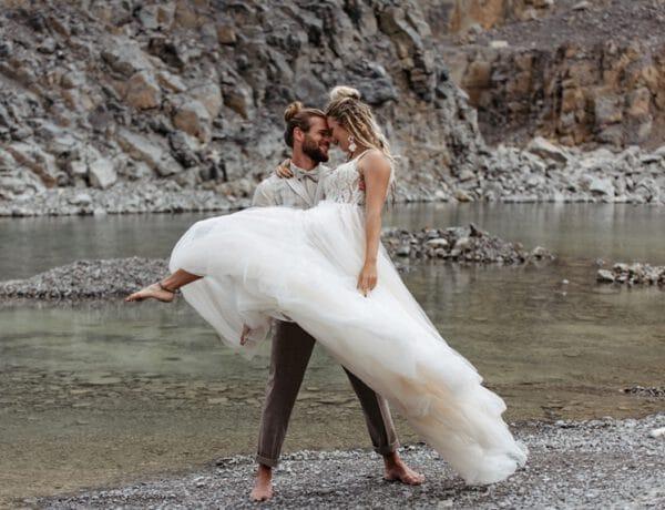 Celestial Hippie Glam - Mini Hochzeit im Steinbruch
