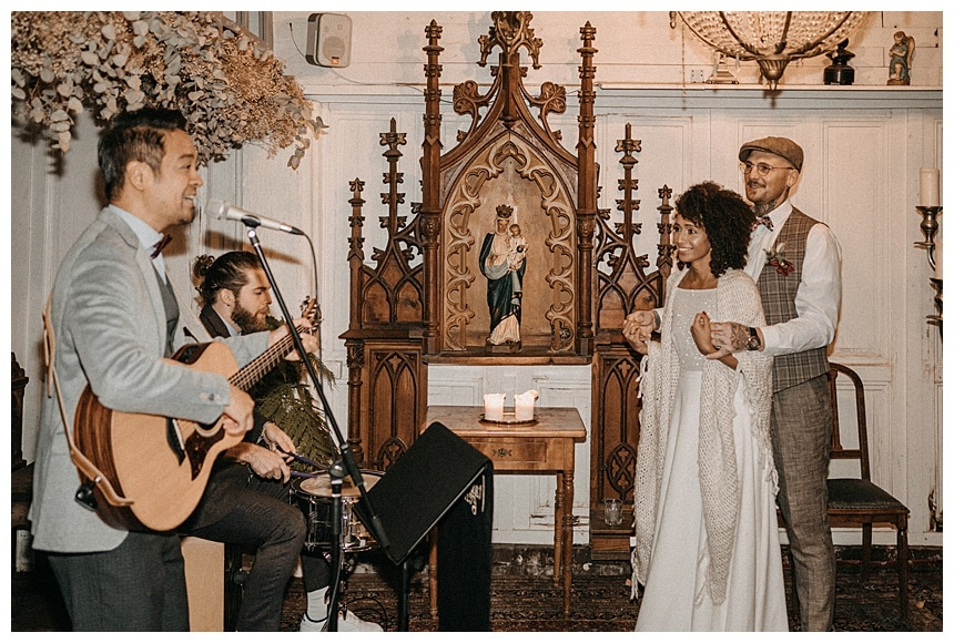 La Dü Düsseldorf winterliche Mikro Boho Hochzeit
