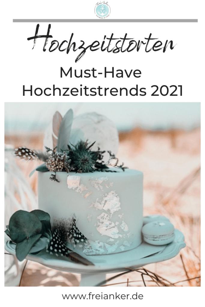 einstöckige Hochzeitstorte. 1-stöckige Torten Hochzeitstrend 2021