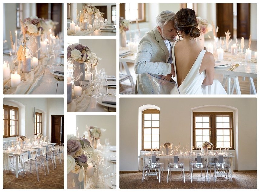 monochrome organic boho castle wedding 2