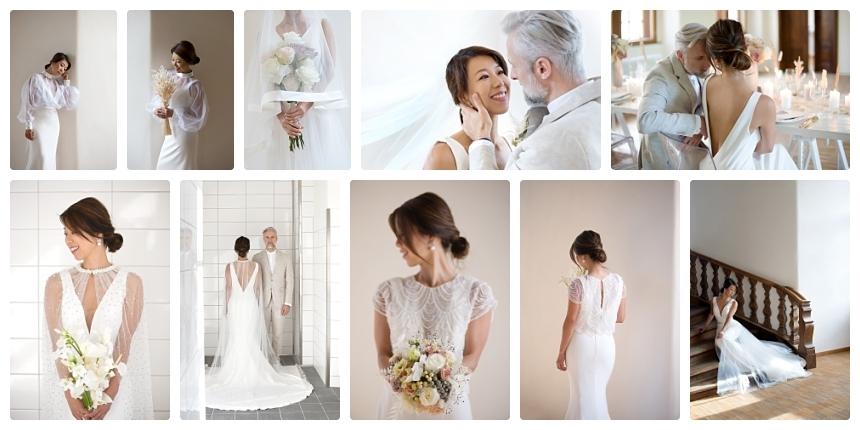 monochrome organic boho castle wedding 4