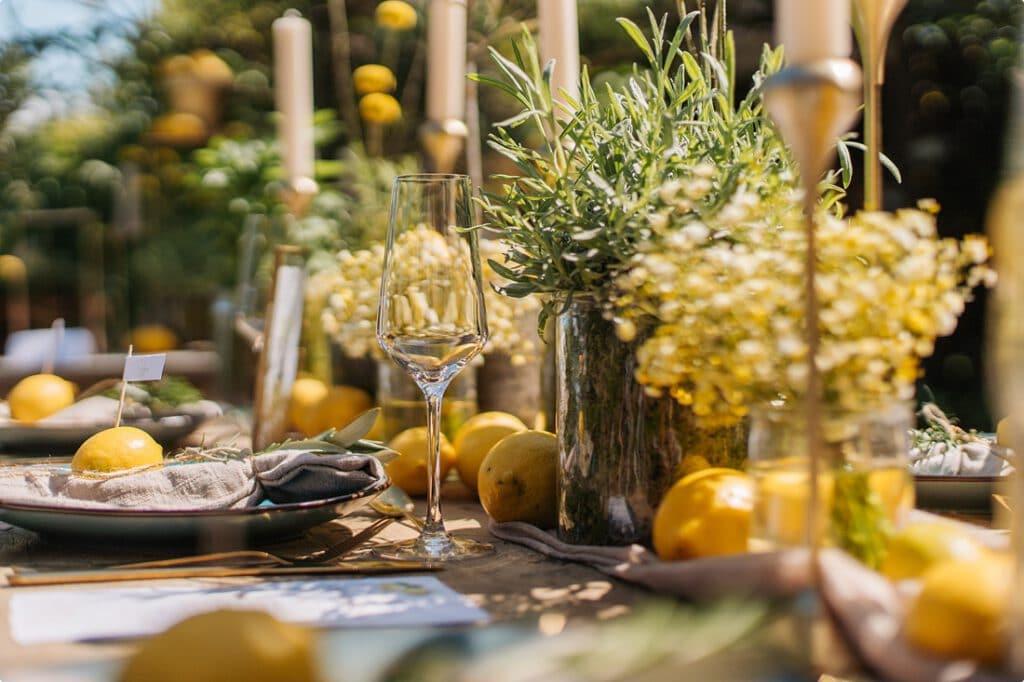 italienische gartenhochzeit gelb zitrone 10