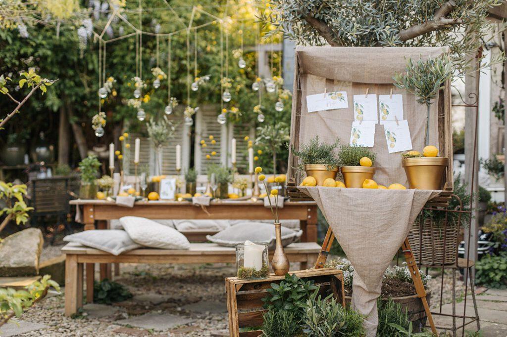 italienische gartenhochzeit gelb zitrone 119