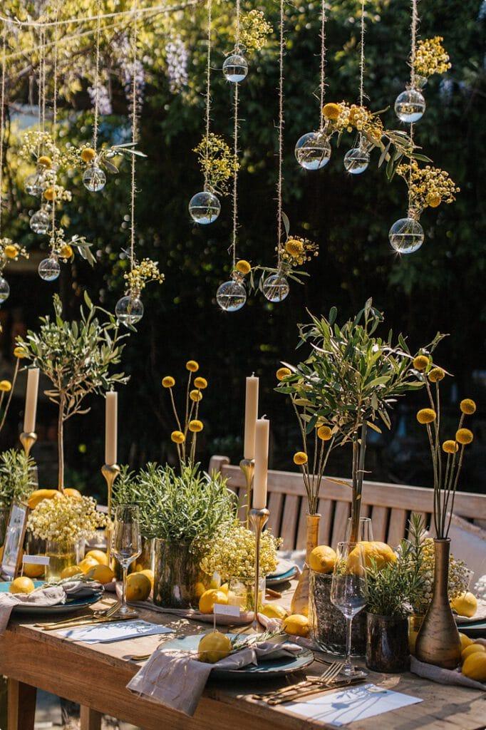 italienische gartenhochzeit gelb zitrone 12