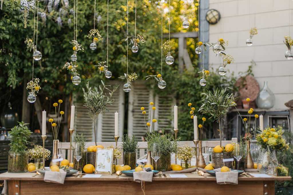 italienische gartenhochzeit gelb zitrone 131