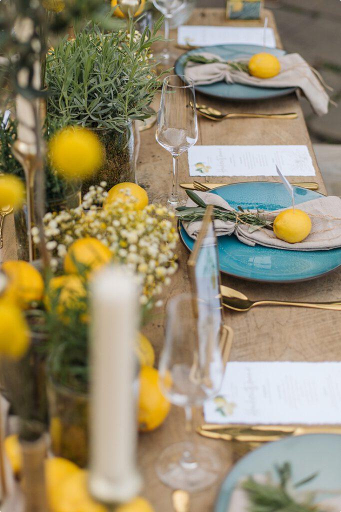italienische gartenhochzeit gelb zitrone 138