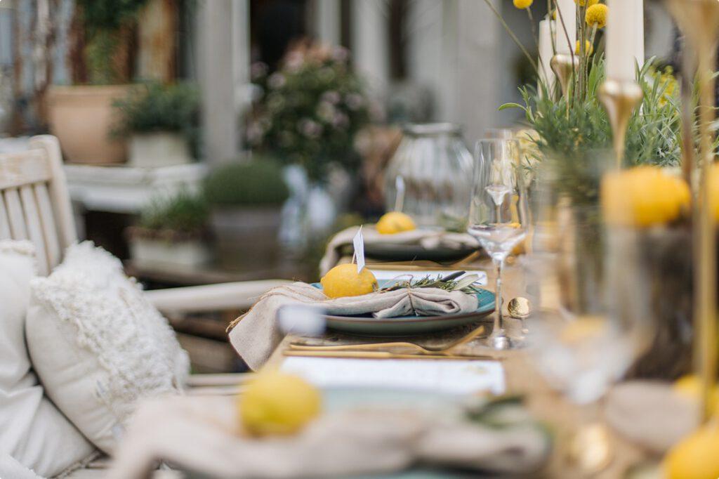 italienische gartenhochzeit gelb zitrone 143