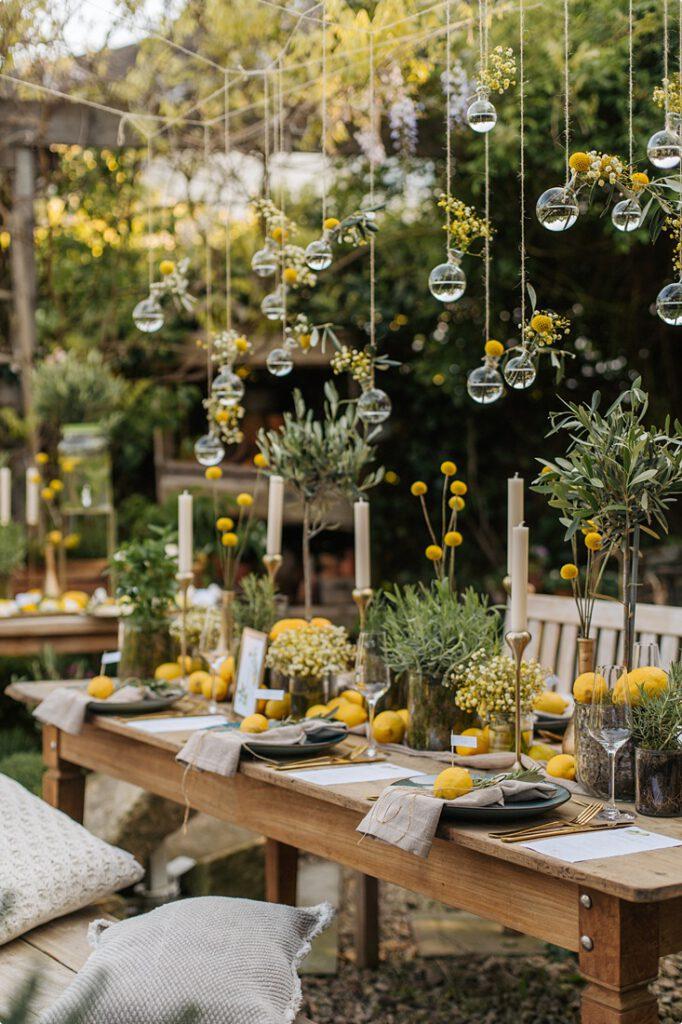 italienische gartenhochzeit gelb zitrone 146
