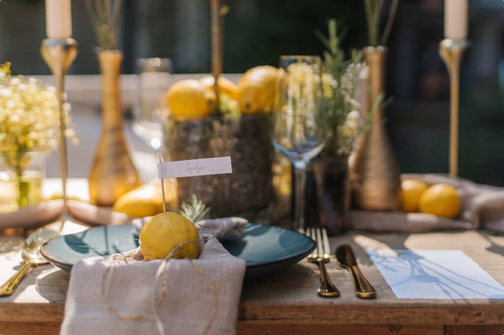 italienische gartenhochzeit gelb zitrone 16