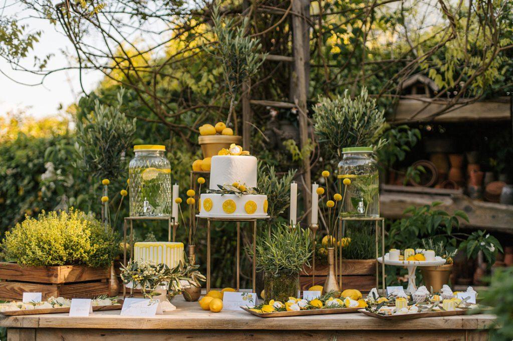 italienische gartenhochzeit gelb zitrone 163