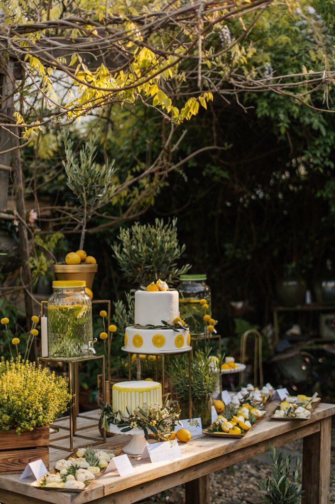 italienische gartenhochzeit gelb zitrone 164