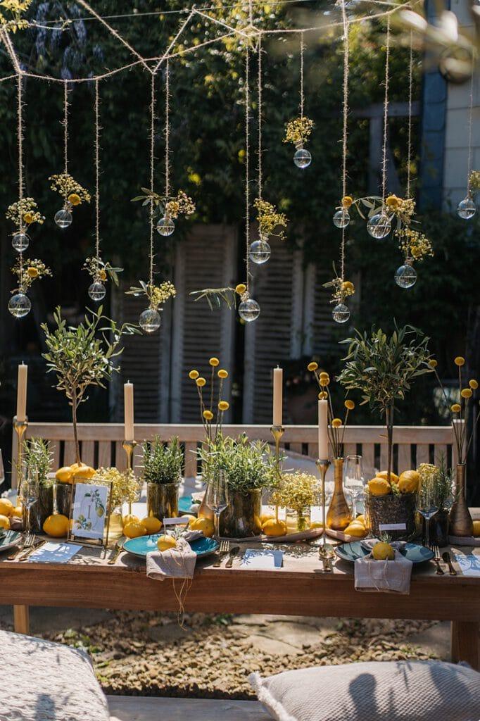 italienische gartenhochzeit gelb zitrone 17