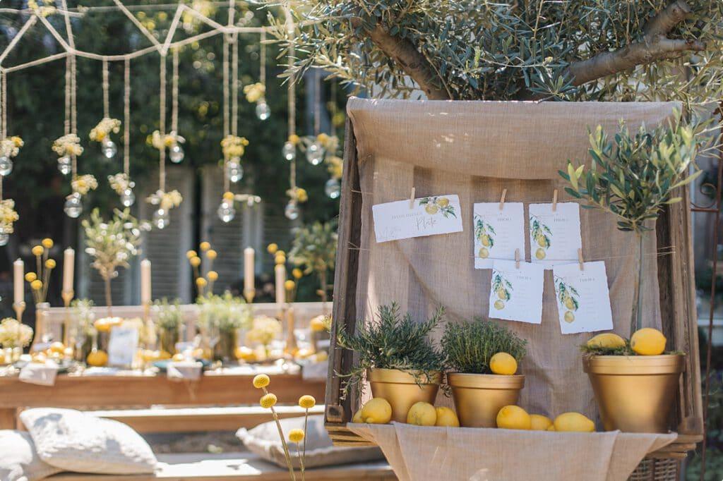 italienische gartenhochzeit gelb zitrone 19