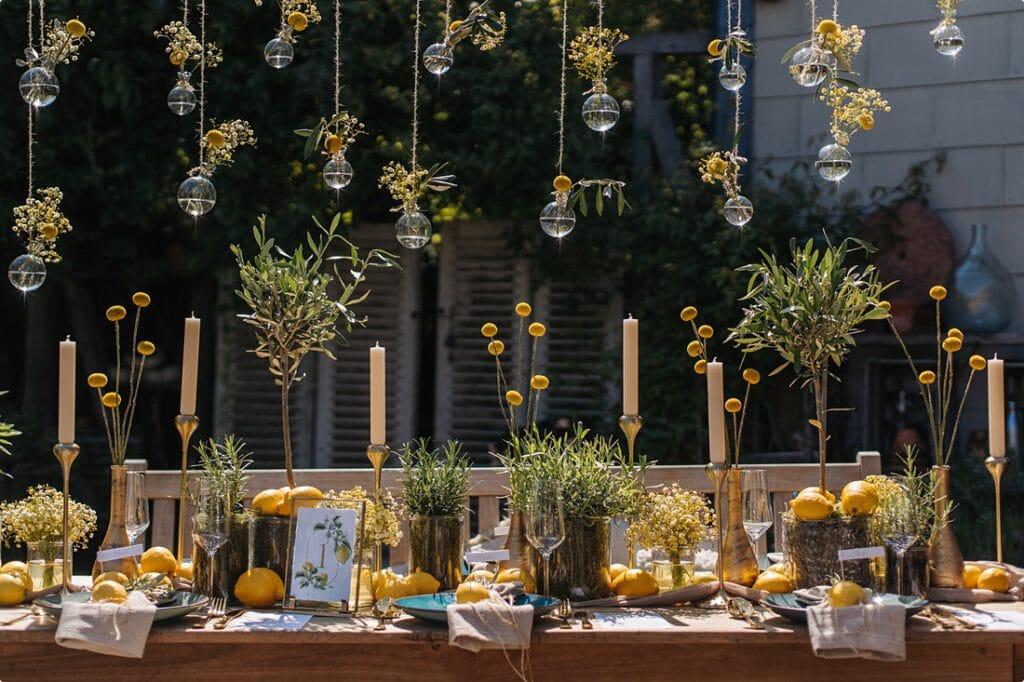 italienische gartenhochzeit gelb zitrone 2