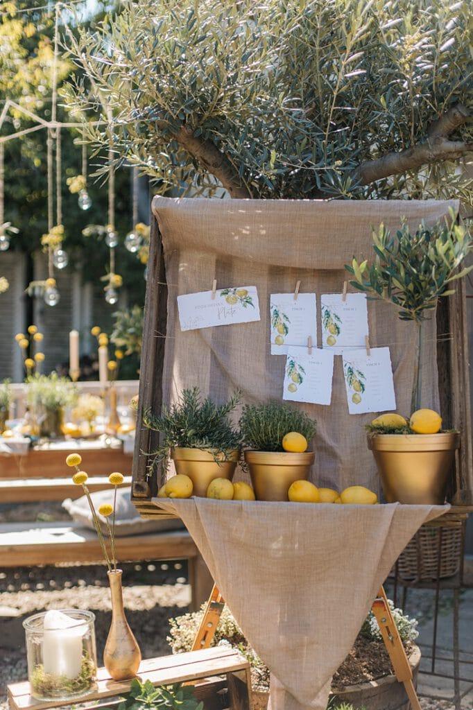 italienische gartenhochzeit gelb zitrone 20