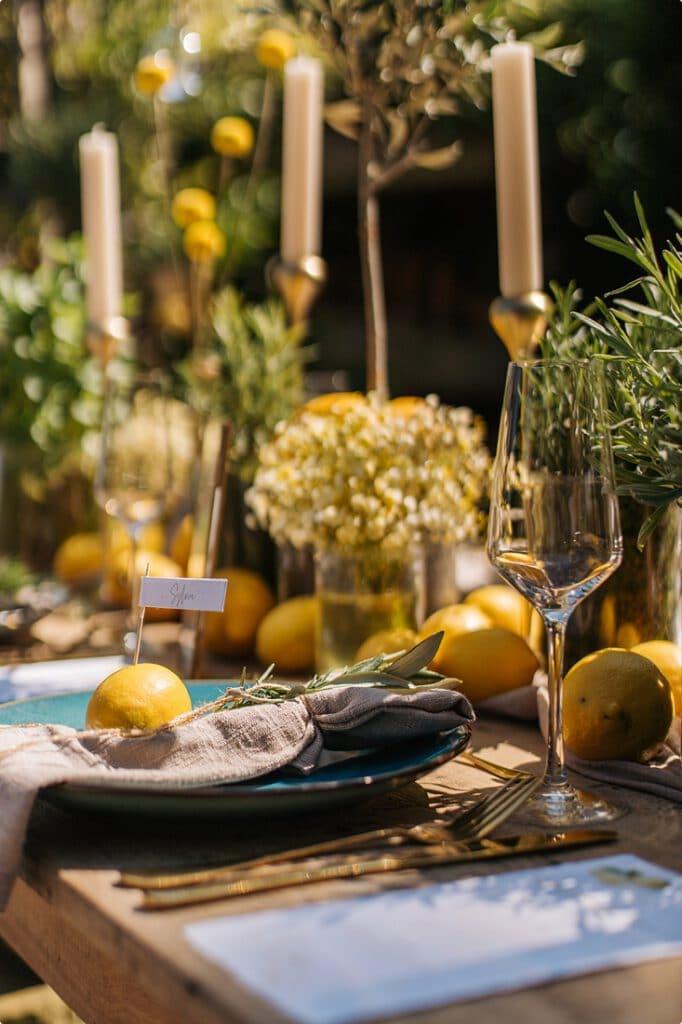 italienische gartenhochzeit gelb zitrone 24