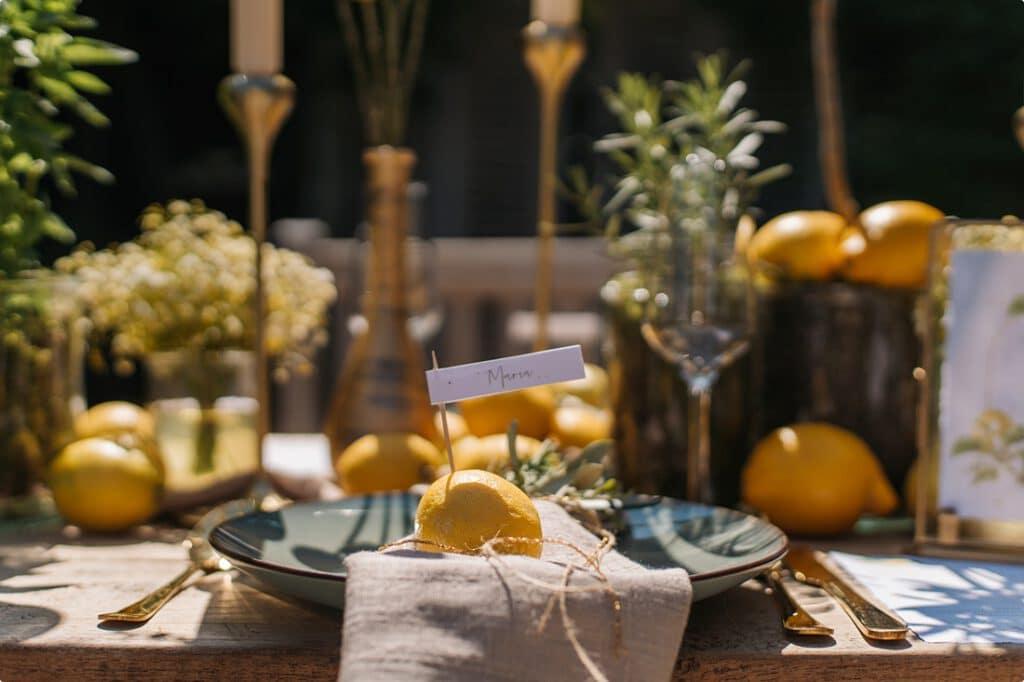 italienische gartenhochzeit gelb zitrone 3