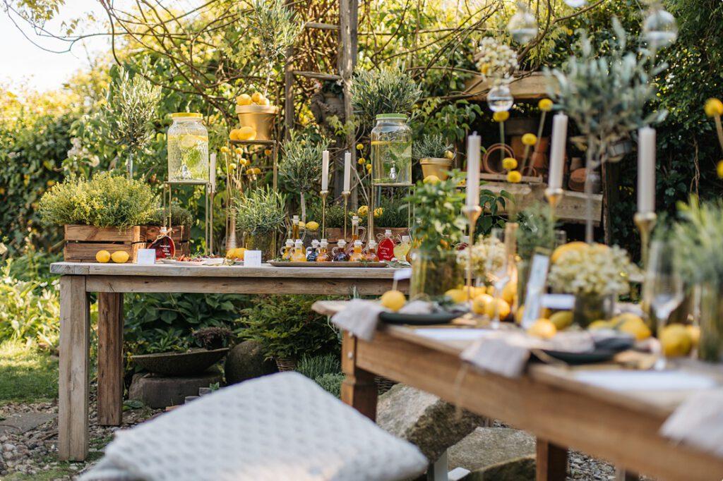 italienische gartenhochzeit gelb zitrone 58