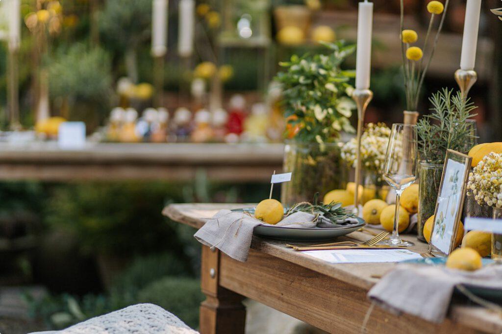 italienische gartenhochzeit gelb zitrone 63
