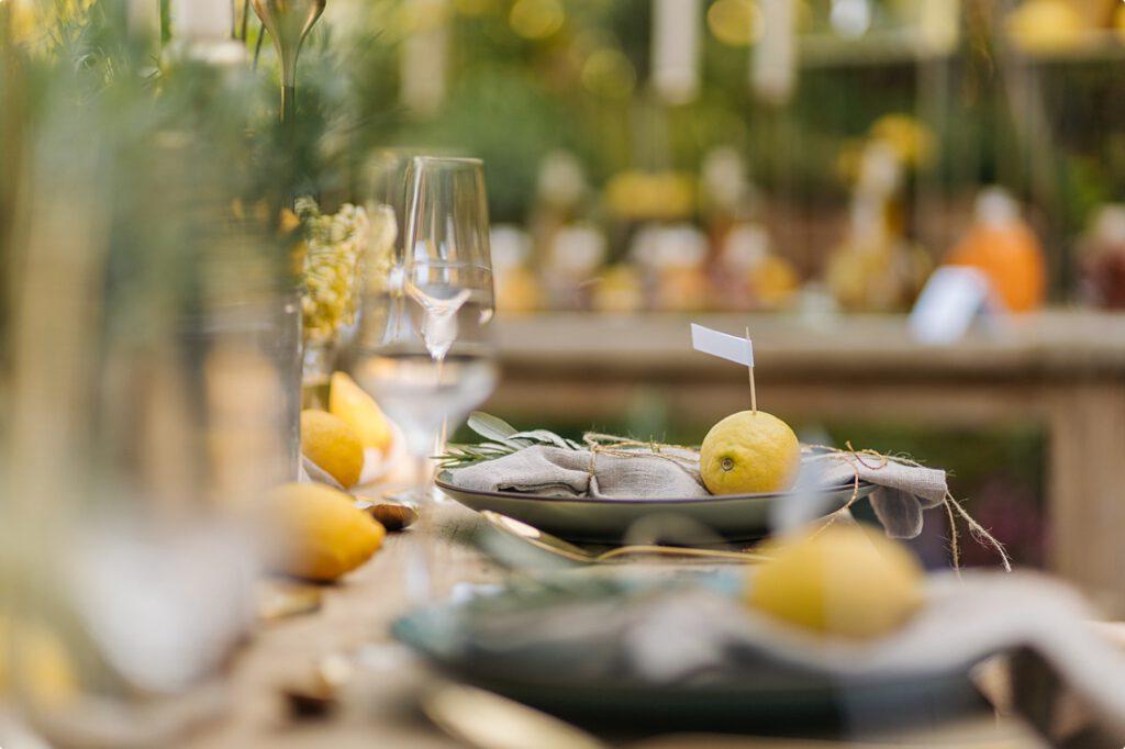 italienische gartenhochzeit gelb zitrone 73