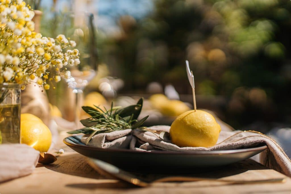 italienische gartenhochzeit gelb zitrone 8