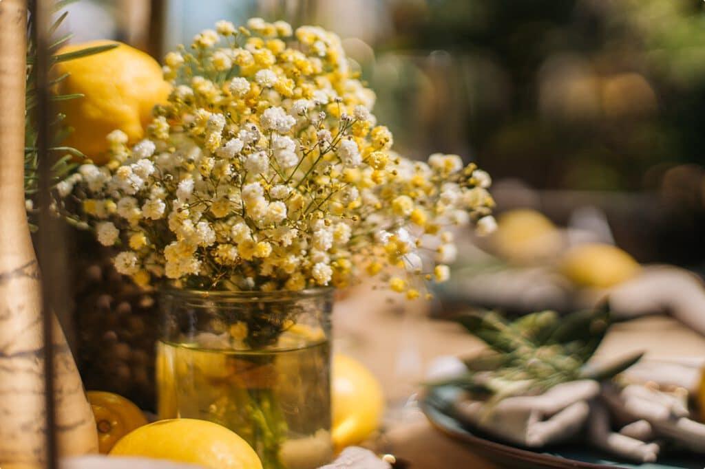 italienische gartenhochzeit gelb zitrone 9