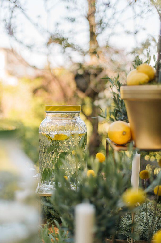 italienische gartenhochzeit gelb zitrone 99