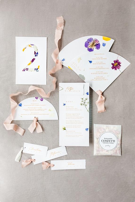 nachhaltige DIY Gartenhochzeit Hochzeitspapterie