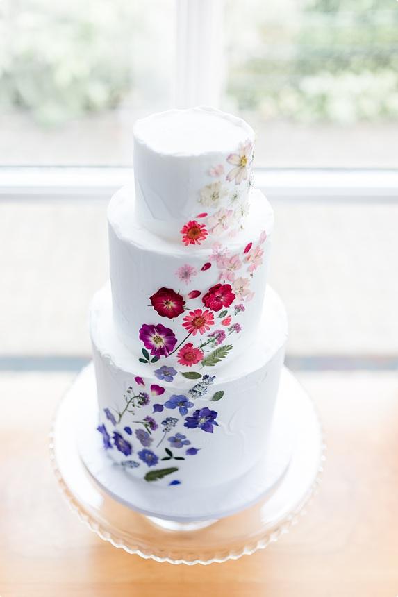 nachhaltige DIY Gartenhochzeit Hochzeitstorte