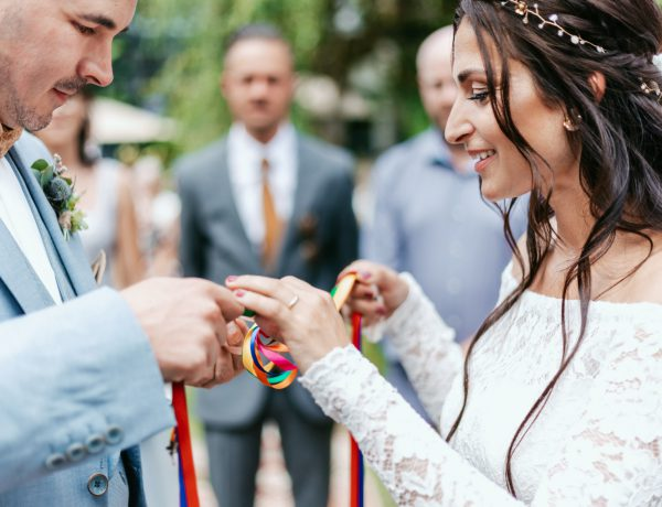 Handfasting in der freien Trauung real wedding